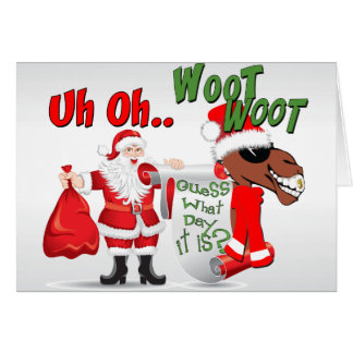 Navidad fresco del día de chepa del camello felicitacion