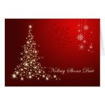 Navidad gaélico irlandés, rojo y árbol chispeante  tarjetas