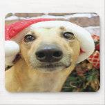 Navidad - galgo - Pena Alfombrillas De Raton