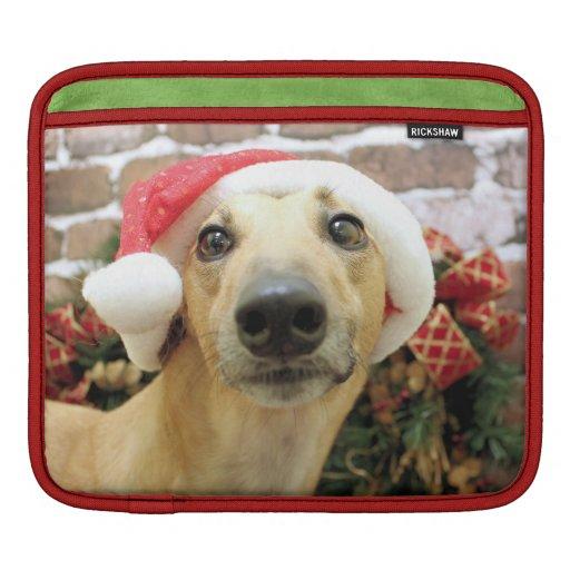 Navidad - galgo - Pena Funda Para iPads