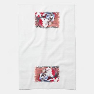 Navidad - gatito toalla de mano