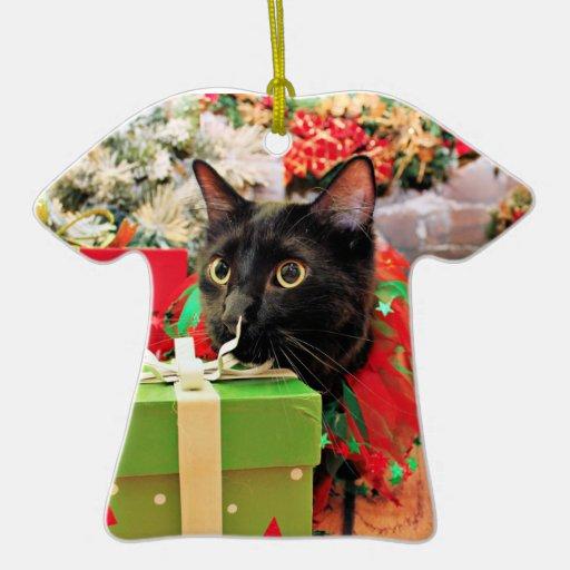 Navidad - gato - Bentley Adorno De Cerámica En Forma De Camiseta