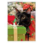Navidad - gato - Bentley Tarjeta Pequeña