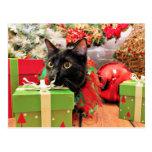 Navidad - gato - Bentley Tarjetas Postales