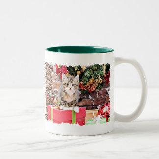 Navidad - gato del gatito - Monki Taza