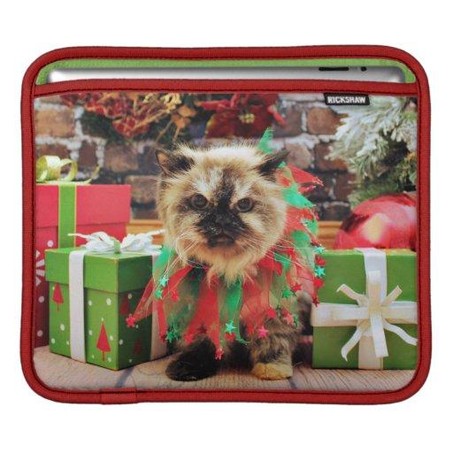 Navidad - gato Himalayan - pensamiento Funda Para iPads