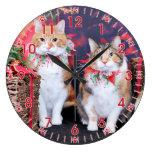 Navidad - gato - mantequilla y guarro reloj