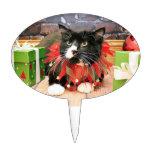 Navidad - gato - Óscar Decoraciones Para Tartas