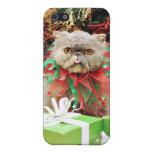 Navidad - gato persa - Frannie iPhone 5 Cárcasas