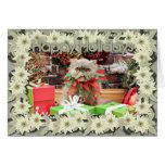 Navidad - gato persa - Morrison Tarjeta De Felicitación