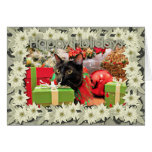 Navidad - gato - Schmahl Tarjeta De Felicitación