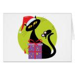 Navidad gato y ratón felicitación