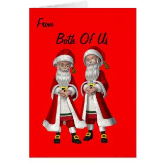 Navidad gay de los pares (varón) tarjeta de felicitación