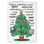 navidad geeky digital de la tecnología felicitación