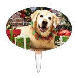 Navidad - golden retriever - Abby Figuras Para Tartas