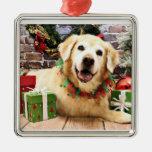 Navidad - golden retriever - Abby Adorno De Navidad