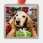 Navidad - golden retriever - Bailey Ornamentos De Reyes