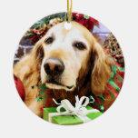 Navidad - golden retriever - Bailey Ornamente De Reyes