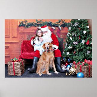 Navidad - golden retriever - penique impresiones
