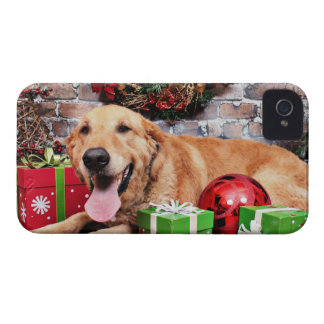 Navidad - golden retriever - Wrigley Case-Mate iPhone 4 Protector