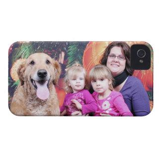 Navidad - golden retriever - Wrigley iPhone 4 Case-Mate Fundas