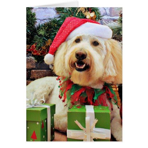 Navidad - GoldenDoodle - Bella Tarjeton