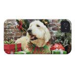 Navidad - GoldenDoodle - Frahm Case-Mate iPhone 4 Funda