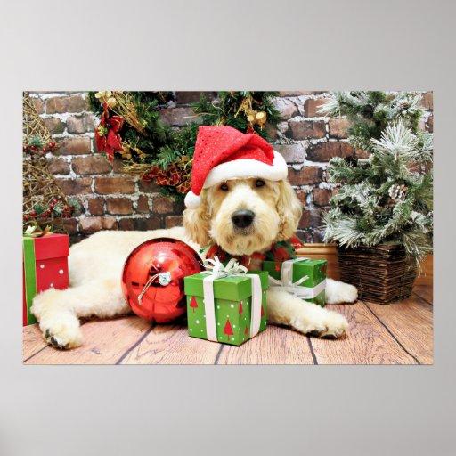 Navidad - GoldenDoodle - Gus Póster