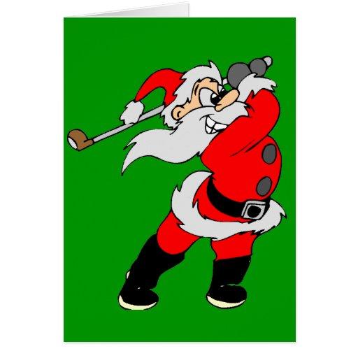 Navidad Golfing de Santa Tarjetón