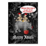 Navidad gótico divertido tarjetón