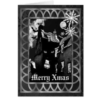 Navidad gótico fantasmagórico tarjeta de felicitación