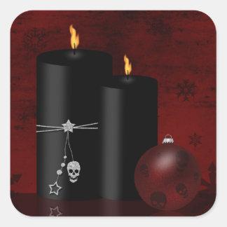 Navidad gótico - pegatina cuadrado