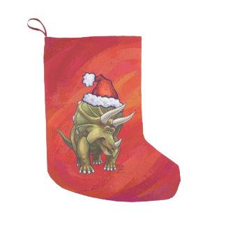 Navidad grande del Triceratops festivo Calcetín De Navidad Pequeño