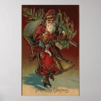 Navidad GreetingSanta con los regalos # 2 Póster