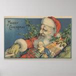 Navidad GreetingSanta con los regalos Posters
