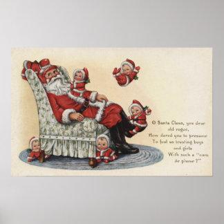 Navidad GreetingSanta que sienta # 2 Póster