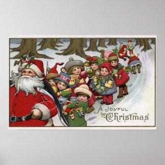 Navidad GreetingSanta y ayudantes Impresiones