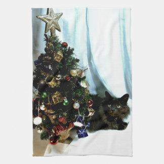 Navidad gris toalla de mano