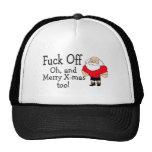 Navidad grosero que saluda gorras de camionero