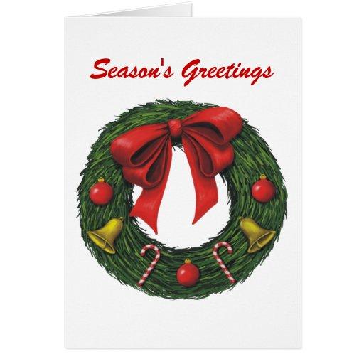 Navidad guirnalda, los saludos de la estación tarjetas