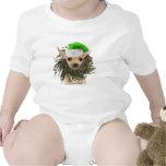 Navidad guirnalda y gorra de la chihuahua trajes de bebé
