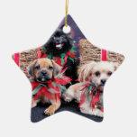 Navidad - Gus de Puggle - Shorkie Charlie Pom Mazi Adornos De Navidad