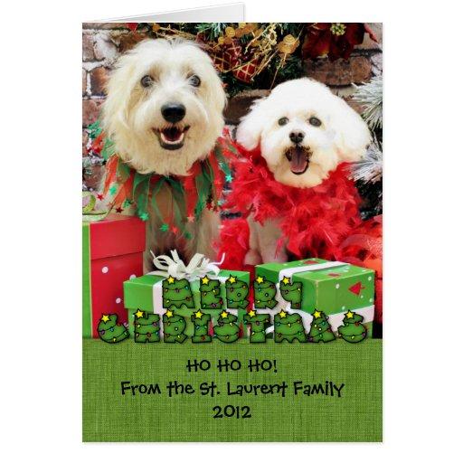 Navidad - Havanese Steve - Terrier X Edie Felicitacion