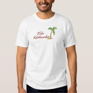 Navidad hawaiano 2 de la palmera poleras