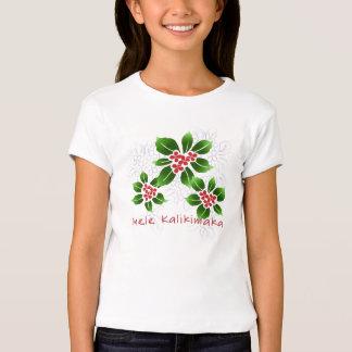 Navidad hawaiano de Mele Kalikimaka del acebo rojo Playeras