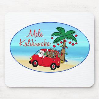 Navidad hawaiano alfombrillas de raton