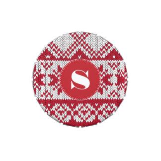 Navidad hecha punto frascos de caramelos