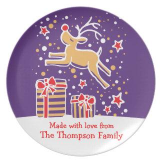 Navidad hecho con la placa de identificación del r plato de cena