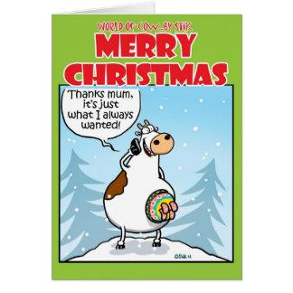 Navidad hecho punto tarjeta de felicitación
