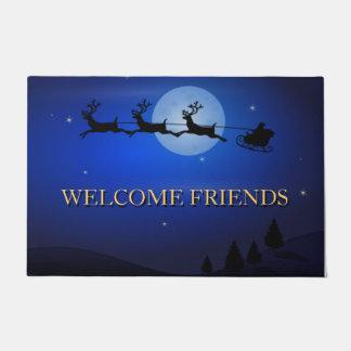 Navidad hermoso de los amigos agradables felpudo